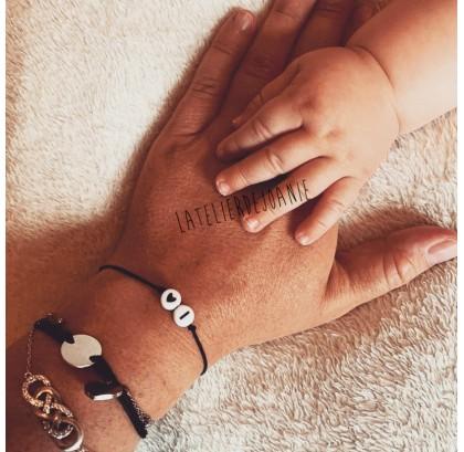 Bracelet initiale coeur