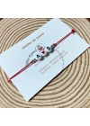 Bracelet initiales rouge