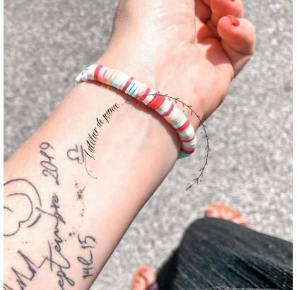 Bracelet argile multicolore summer