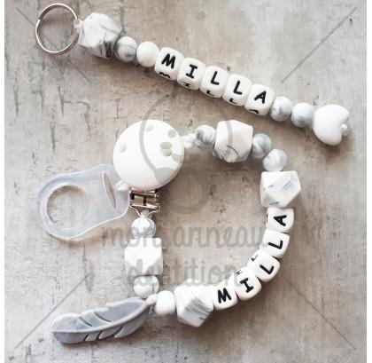 Attache dentition bracelet silicone