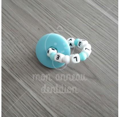 Anneau dentition donut bleu