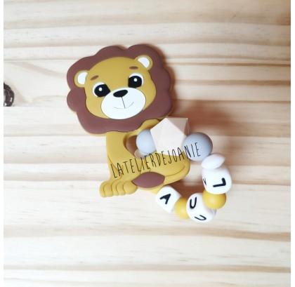 Anneau dentition lion silicone
